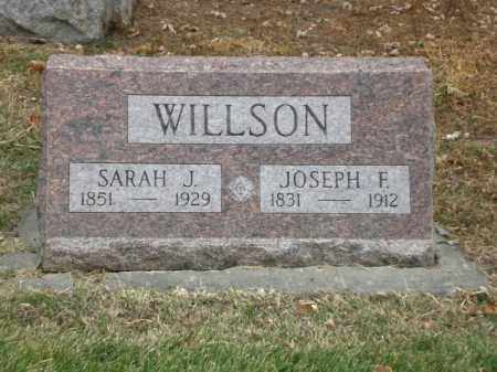 WILLSON, JOSEPH FLETCHER - Jefferson County, Colorado | JOSEPH FLETCHER WILLSON - Colorado Gravestone Photos