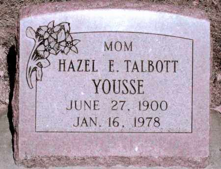 YOUSSE, HAZEL E TALBOTT - Jefferson County, Colorado | HAZEL E TALBOTT YOUSSE - Colorado Gravestone Photos