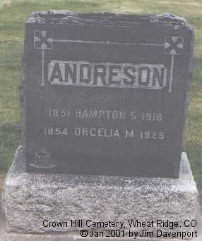 ANDRESON, ORCELIA M. - Jefferson County, Colorado | ORCELIA M. ANDRESON - Colorado Gravestone Photos