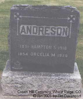 ANDRESON, HAMPTON S. - Jefferson County, Colorado | HAMPTON S. ANDRESON - Colorado Gravestone Photos