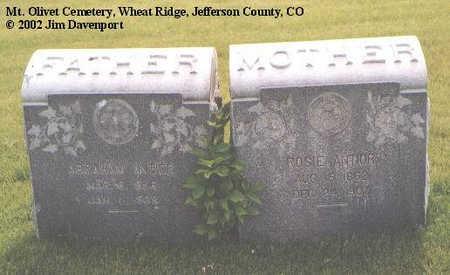 ANTOIR, ABRAHAM - Jefferson County, Colorado | ABRAHAM ANTOIR - Colorado Gravestone Photos