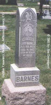 BARNES, LUCY - Jefferson County, Colorado   LUCY BARNES - Colorado Gravestone Photos