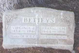BETTEYS, VIRGINIA J. - Jefferson County, Colorado | VIRGINIA J. BETTEYS - Colorado Gravestone Photos