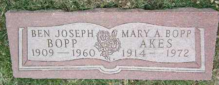BOPP  AKES, MARY - Jefferson County, Colorado | MARY BOPP  AKES - Colorado Gravestone Photos