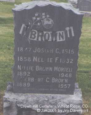BROWN, JOSIAH C. - Jefferson County, Colorado | JOSIAH C. BROWN - Colorado Gravestone Photos