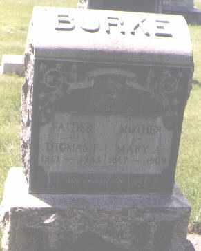 BURKE, THOMAS F. - Jefferson County, Colorado | THOMAS F. BURKE - Colorado Gravestone Photos