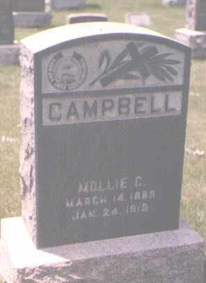CAMPBELL, MOLLIE C. - Jefferson County, Colorado   MOLLIE C. CAMPBELL - Colorado Gravestone Photos