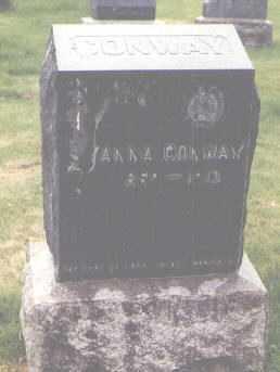 CONWAY, ANNA - Jefferson County, Colorado   ANNA CONWAY - Colorado Gravestone Photos