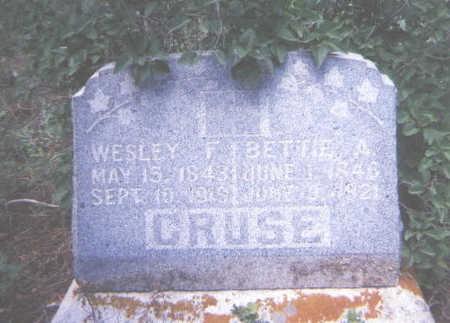 CRUSE, WESLEY F. - Jefferson County, Colorado | WESLEY F. CRUSE - Colorado Gravestone Photos