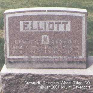 ELLIOTT, SARAH A. - Jefferson County, Colorado | SARAH A. ELLIOTT - Colorado Gravestone Photos