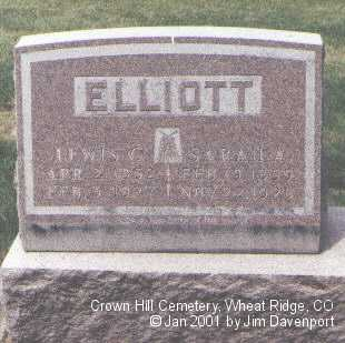 ELLIOTT, SARAH A. - Jefferson County, Colorado | SARAH A. ELLIOTT - Colorado Gravestone Photos