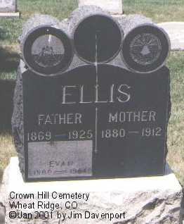 ELLIS, EVAN - Jefferson County, Colorado | EVAN ELLIS - Colorado Gravestone Photos