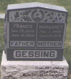 GESSING, MARGARET - Jefferson County, Colorado | MARGARET GESSING - Colorado Gravestone Photos
