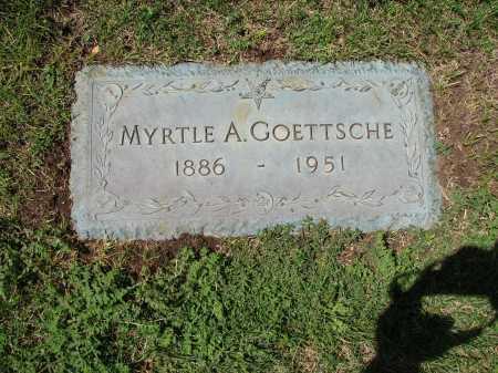 SNYDE-SNIDE GOETTSCHE, MYRTLE A. - Jefferson County, Colorado | MYRTLE A. SNYDE-SNIDE GOETTSCHE - Colorado Gravestone Photos