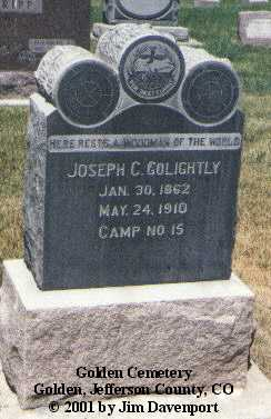 GOLIGHTLY, JOSEPH C. - Jefferson County, Colorado | JOSEPH C. GOLIGHTLY - Colorado Gravestone Photos