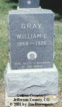 GRAY, WILLIAM C. - Jefferson County, Colorado | WILLIAM C. GRAY - Colorado Gravestone Photos
