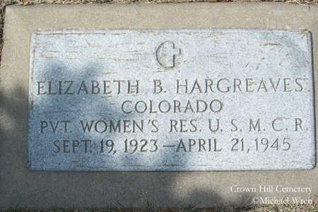 HARGREAVES, ELIZABETH B. - Jefferson County, Colorado | ELIZABETH B. HARGREAVES - Colorado Gravestone Photos
