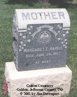 HARRIS, MARGARET E. - Jefferson County, Colorado | MARGARET E. HARRIS - Colorado Gravestone Photos