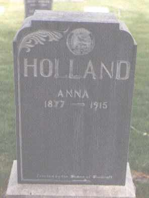 HOLLAND, ANNA - Jefferson County, Colorado | ANNA HOLLAND - Colorado Gravestone Photos