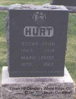 HURT, MARIE LOUISE - Jefferson County, Colorado | MARIE LOUISE HURT - Colorado Gravestone Photos
