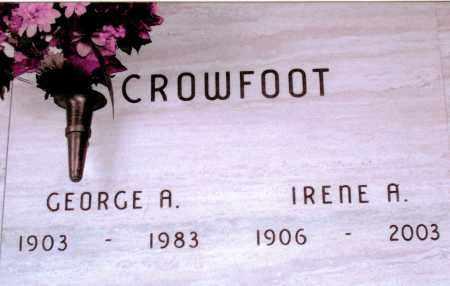 IRENE A, CROWFOOT - Jefferson County, Colorado | CROWFOOT IRENE A - Colorado Gravestone Photos