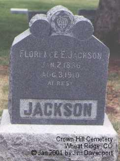 JACKSON, FLORENCE E. - Jefferson County, Colorado | FLORENCE E. JACKSON - Colorado Gravestone Photos