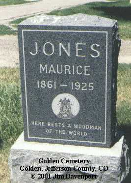 JONES, MAURICE - Jefferson County, Colorado | MAURICE JONES - Colorado Gravestone Photos