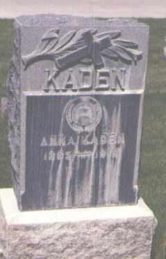 KADEN, ANNA - Jefferson County, Colorado   ANNA KADEN - Colorado Gravestone Photos