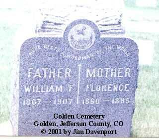 KIPFER, FLORENCE - Jefferson County, Colorado   FLORENCE KIPFER - Colorado Gravestone Photos
