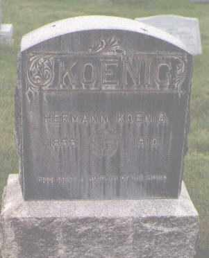 KOENIG, HERMANN - Jefferson County, Colorado | HERMANN KOENIG - Colorado Gravestone Photos