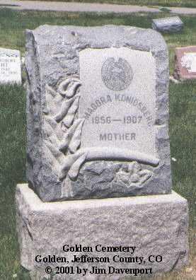 KONIGSBERG, MADORA - Jefferson County, Colorado   MADORA KONIGSBERG - Colorado Gravestone Photos