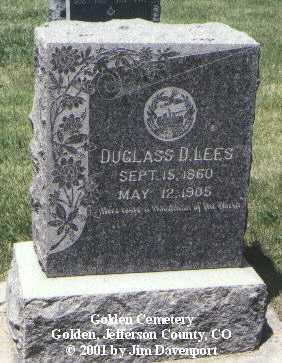 LEES, DUGLASS D. - Jefferson County, Colorado | DUGLASS D. LEES - Colorado Gravestone Photos