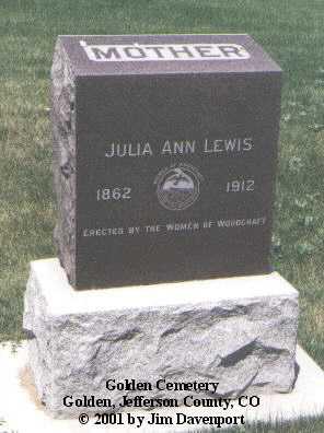 LEWIS, JULIA ANN - Jefferson County, Colorado   JULIA ANN LEWIS - Colorado Gravestone Photos
