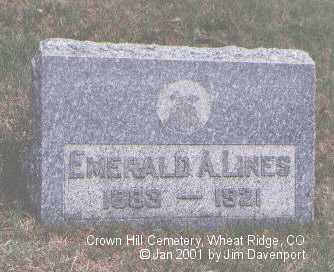 LINES, EMERALD A. - Jefferson County, Colorado | EMERALD A. LINES - Colorado Gravestone Photos