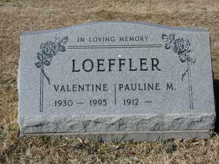 LOEFFLER, VALENTINE - Jefferson County, Colorado | VALENTINE LOEFFLER - Colorado Gravestone Photos