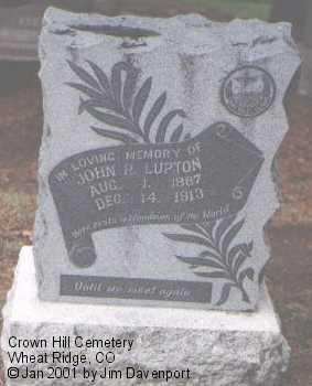 LUPTON, JOHN P. - Jefferson County, Colorado | JOHN P. LUPTON - Colorado Gravestone Photos