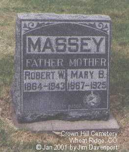 MASSEY, MARY B. - Jefferson County, Colorado | MARY B. MASSEY - Colorado Gravestone Photos