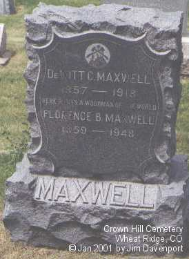 MAXWELL, DEWITT C. - Jefferson County, Colorado | DEWITT C. MAXWELL - Colorado Gravestone Photos