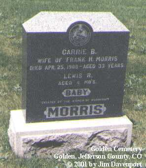 MORRIS, CARRIE B. - Jefferson County, Colorado | CARRIE B. MORRIS - Colorado Gravestone Photos