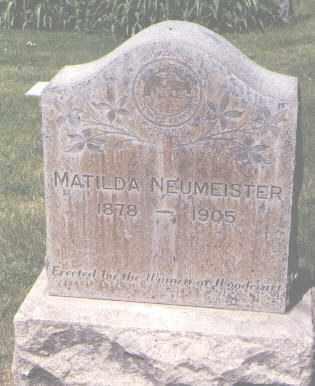 NEUMEISTER, MATILDA - Jefferson County, Colorado   MATILDA NEUMEISTER - Colorado Gravestone Photos