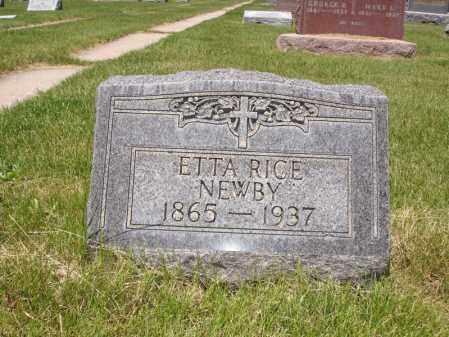 RICE NEWBY, ETTA - Jefferson County, Colorado | ETTA RICE NEWBY - Colorado Gravestone Photos