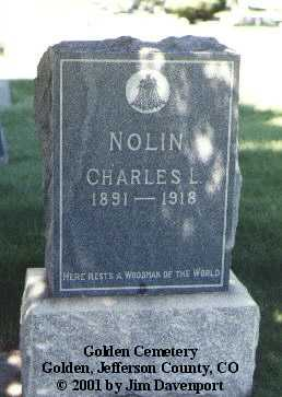 NOLIN, CHARLES L. - Jefferson County, Colorado | CHARLES L. NOLIN - Colorado Gravestone Photos