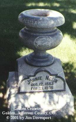 NOLIN, JOHNIE - Jefferson County, Colorado | JOHNIE NOLIN - Colorado Gravestone Photos