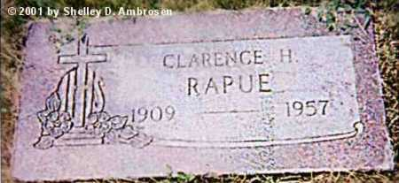 RAPUE, CLARENCE H. - Jefferson County, Colorado   CLARENCE H. RAPUE - Colorado Gravestone Photos