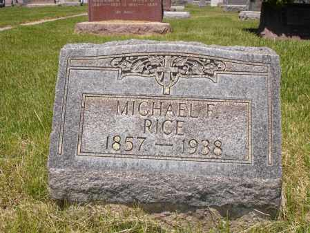 RICE, MICHAEL F. - Jefferson County, Colorado | MICHAEL F. RICE - Colorado Gravestone Photos