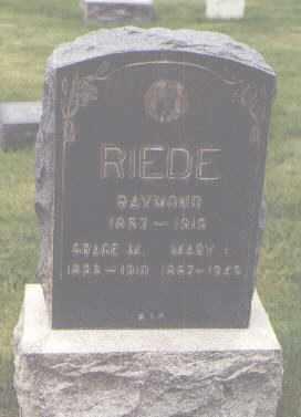 RIEDE, RAYMOND - Jefferson County, Colorado | RAYMOND RIEDE - Colorado Gravestone Photos