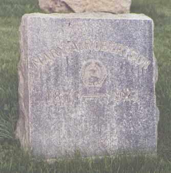 ROBERTSON, MARY A. - Jefferson County, Colorado   MARY A. ROBERTSON - Colorado Gravestone Photos