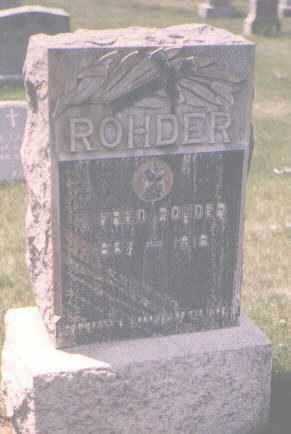 ROHDER, J. FRED - Jefferson County, Colorado | J. FRED ROHDER - Colorado Gravestone Photos