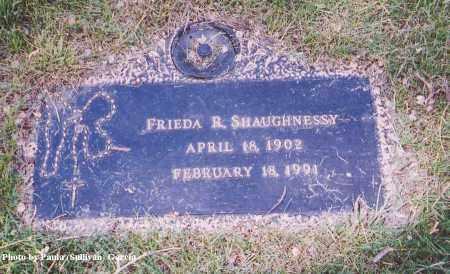 SHAUGHNESSY, FRIEDA R. - Jefferson County, Colorado | FRIEDA R. SHAUGHNESSY - Colorado Gravestone Photos