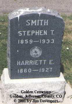 SMITH, HARRIETT E. - Jefferson County, Colorado | HARRIETT E. SMITH - Colorado Gravestone Photos